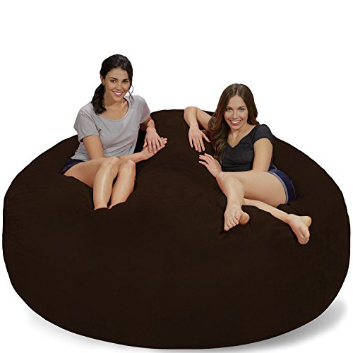 Chill Sack Bean Bags Large Bean Bag, 7-Feet, Chocolate Micro Suede by Chill Sack