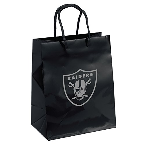 Pro Specialties Group NFL Oakland Raiders Gift Bag, Black/Silver, One - Pro Specialties Bag