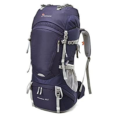 Mountaintop 60L-65L Internal Frame Backpack Hiking Backpack with Rain Cover-5822III