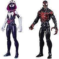 Conjunto 2 Bonecos Titan Hero Series Blast Gear Marvel Max Venom - Ghost-Spider e Miles Morales
