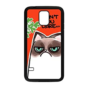 Grumpy Cat Premium TPU Rubber Protection Cover Case for Samsung Galaxy S5 GS5 S V