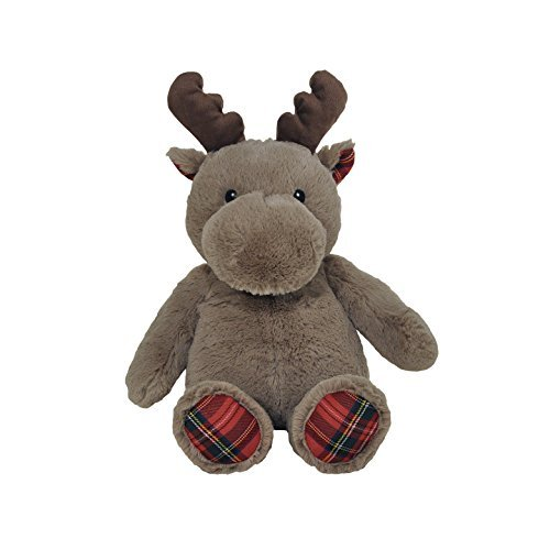 Cloud B Holiday Plush Brown Moose Plaid Red Soft and Snuggly