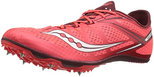 Saucony Men's ballista Track Shoe, Red/White, 11.5 M US (Track Spikes Men Shoes)