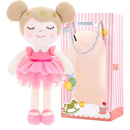 "Gloveleya Baby Doll Girl Gifts Dolls Plush Dreaming Princess Pink with Gift Box 13"""