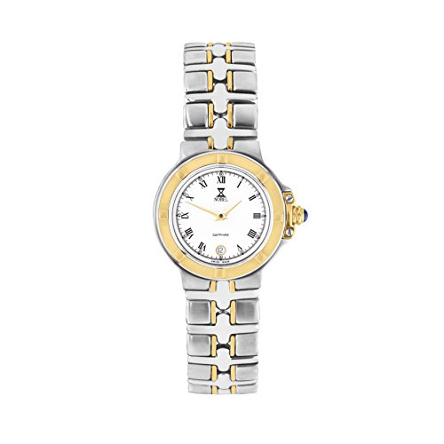 NOBEL Premier Collection Two-Tone Classy Elegant Wristwatch with for Women - Swiss Quartz Movement