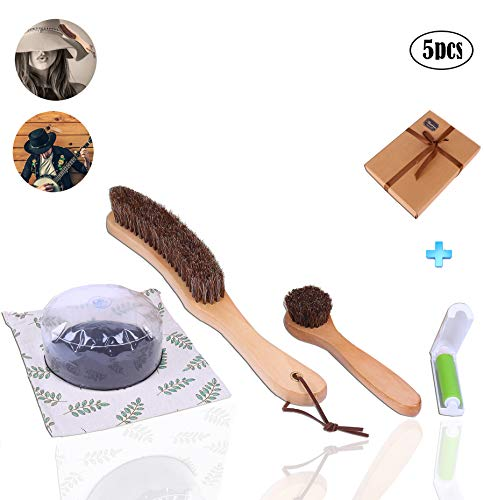 Nature Power 100% Horsehair Hat Brush Roller Brush Transparent Foldable Inflation Cap Shaper Fashionable Cloth Bag