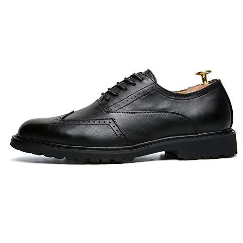 Negro Business Moda Hombres La Casual Antideslizantes Cuero Brogue Sry Oxford De Classico Zapatos Pu zapatos Los Transpirables wqASZEa