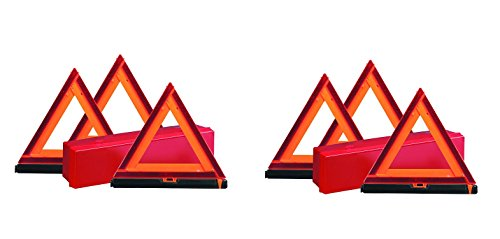 Deflecto Early Warning Road Safety Triangle Kit, Reflective, 3-Pack (73-0711-00) (2-PACK) by Deflecto