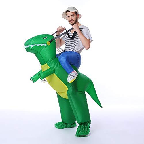 KOKOO Jurassic World Inflatable Dinosaur T-REX Costume | Funny Inflatable Cosplay | Halloween Costume | Blow Up Costume -