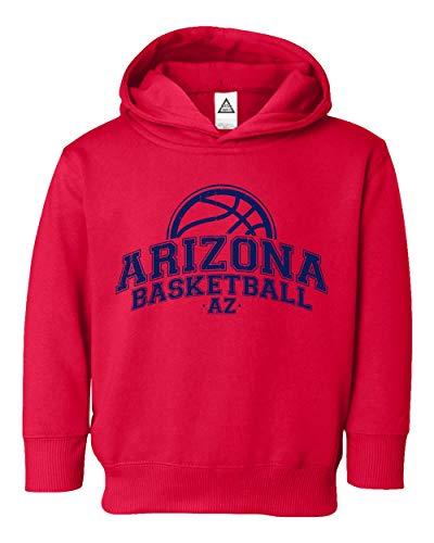 Arizona Kids Sweatshirt - Sheki Apparel Basketball Fans Arizona Town Pride Little Kids Pullover Hoodie Toddler Sweatshirt (Red,4T)