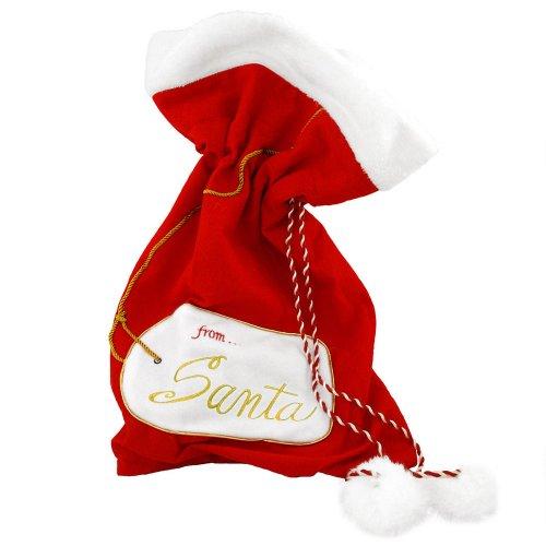 (DEI From Santa Plush Velveteen Christmas Gift Bag Sac (Large))