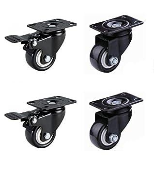 """do4u 2 """"no ruido de espuma de poliuretano rueda giratoria ruedas de goma Base"""
