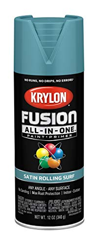 Krylon K02747007 Fusion All-in-One Spray Paint, Rolling Surf (Spray Paint Garden For Plastic Furniture)