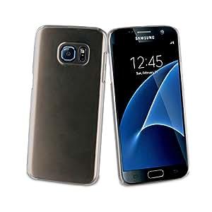 Muvit MUPAK0281 - Pack de carcasa cristal transparente + protector de pantalla de 0.33 mm para Samsung Galaxy S7