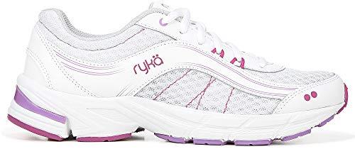 Ryka Womens Impulse Walking Shoes 7 White/Berry Purple/Pink