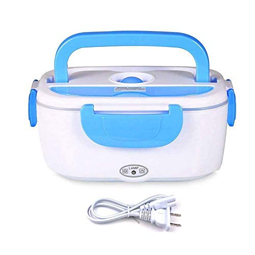 Vmotor Electric Lunch Box Food Heater Portable Lunch Heater with Removable 304 Stainless Steel Container Food Grade Material(110v Blue)