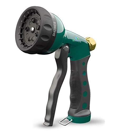 2wayz Garden Hose Spray Nozzle. Exquisite Heavy Duty 7 Patterns Water Sprayer.