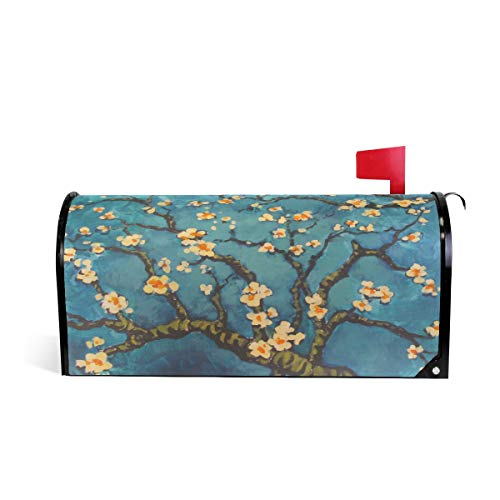 - Wamika Van Gogh Almond Blossoms Magnetic Mailbox Cover MailWraps, Mailbox Wraps Post Box Garden Yard Home Decor for Outside Standard Size