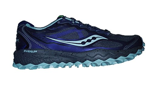 Saucony Peregrine 6 mujer, color grey/black/blue, 38.5EU, 7.5US