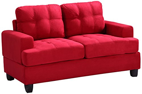 Glory Furniture G516A-L Living Room Love Seat, Red