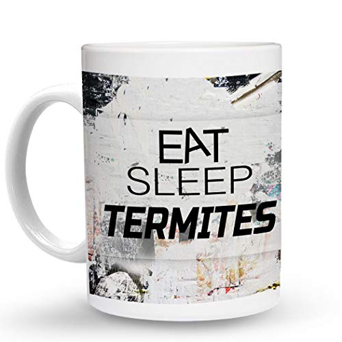 Makoroni - EAT SLEEP TERMITES Animal - 11 Oz. Unique COFFEE MUG, Coffee Cup