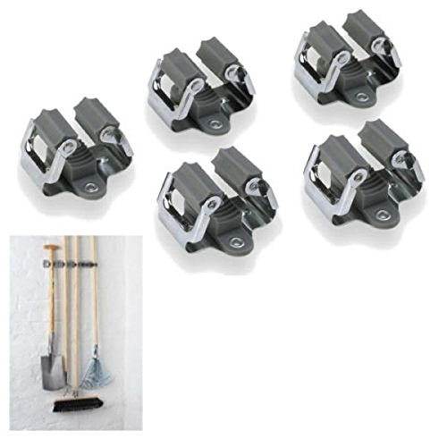 Door Insert Hanger (ROSENICE Broom Hanger Mop and Broom Holder Broom Organizer Grip Clips,5pcs)
