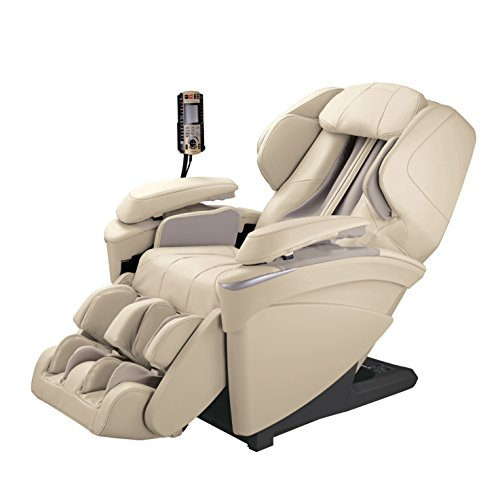 Panasonic MAJ7 Real Pro Ultra Premium 3d Luxury Full Body Heated Massage Recliner Chair (Ivory) (Full Massage Lounger Body Chair)