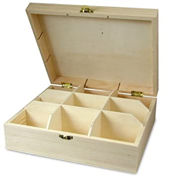 9 Compartment Wooden Specimen Box Amazoncouk Office Products