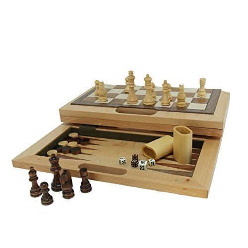 3-in-1 Camphor Wood Combination Set with a Folding Board and Handle for Easy Travel by Wood Expressions
