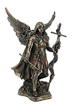 Archangel Saint Gabriel with Cross and Trumpet Statue - Statue Archangel Sculpture