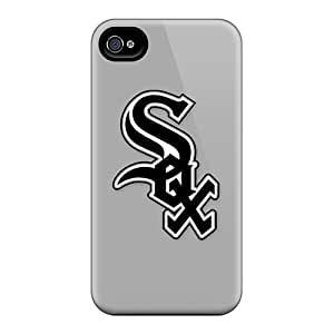 For Iphone 4/4s Fashion Design Baseball Chicago White Sox 3 Case-NAX4765XWcy