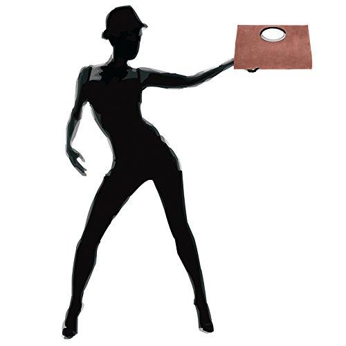 CASPAR TL699 Bolso de Mano Fiesta para Mujer / XXL Clutch Grande de Piel de Ante Rojo Viejo