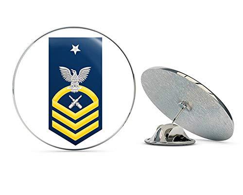 Pin Gold Hat Military (US Navy Senior Chief Gold E-8 Gunner's Mate GM Military Veteran USA Pride Served Gift Metal 0.75