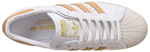Sneakers Top Superstar adidas Low White WoMen Pack 80S Croc Metallic Tan 0ZF0w