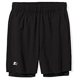 Starter Boys' 7″ Two-in-One Running Short, Amazon Exclusive