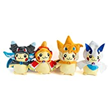 pikachu plush set of 4