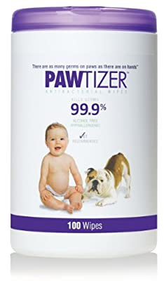 Pawtizer Pet Wipes, 100-Count