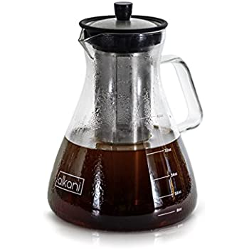 Cold Brew Coffee Maker - Stylish & EXTRA DURABLE 40oz/1.2L Glass Pitcher With Spout & Removable Stainless Steel Filter, Brews Perfectly Smooth Coffee Every Time, Ideal Refreshment For A Hot Summer Day