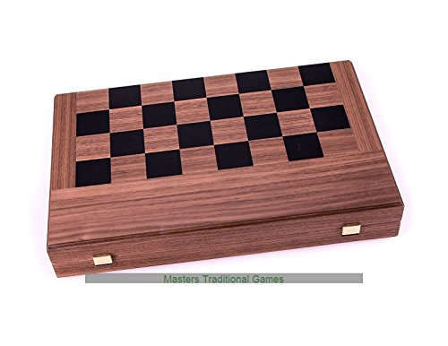Manopoulos Walnut Chess and Backgammon - Folding Case