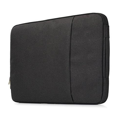 Cover Handbag 11-11.6 Inch MacBook Air,YiMiky Polyester Slim Light Weight Fabric Handbag Case 12 Inch 2017/2016/2015 Release Ultrabook Tablet Carrying Bag Case Men Business Work Travel(Black) by YiMiky