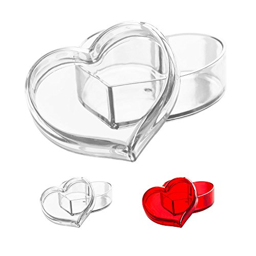 Decorative Heart Box (Solly's Clara Acrylic Heart Box Jewelry & Cosmetic Storage or Gift Box for Girls - Transparent)