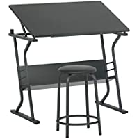 Eclipse Table with Stool (Black)