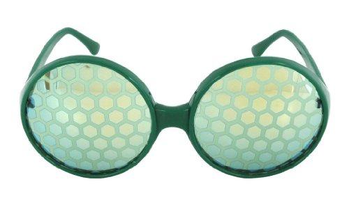 Elope Bug Eyes Glasses, Green - Getting Eyeglasses