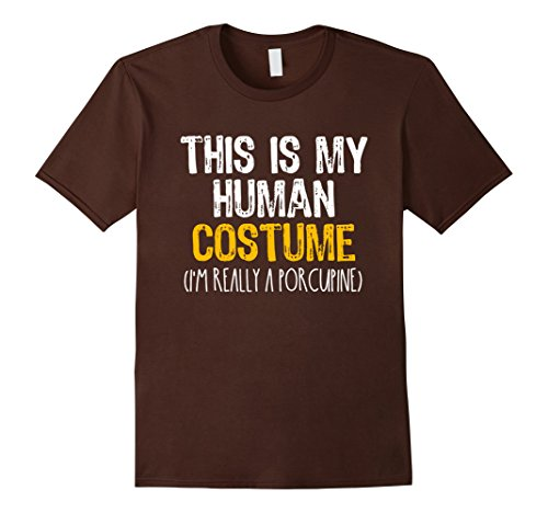 Mens This Is My Human Costume Porcupine Halloween Funny T-shirt Large (Crazy 2017 Halloween Costumes)