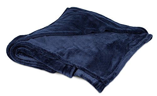 (BIRDROCK HOME Internet's Best Plush Throw Blankets | Navy (Blue) | Ultra Soft Couch Blanket | Light Weight Sofa Throw | 100% Microfiber Polyester | Easy Travel | Twin Bed | 66 x 90)