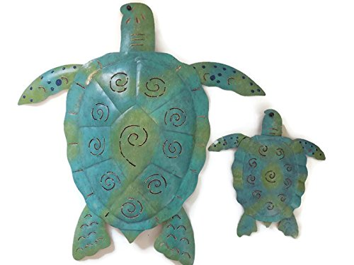 """Sea Outdoor Art (Regal Art Sea Turtle Metal Wall Art Décor Bundle (20""""),Best Holiday Gifts, Mother to Daughter Gifts)"""