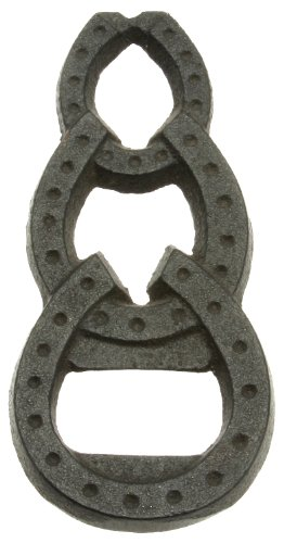 st Iron Bottle Opener, Lucky Horseshoes ()