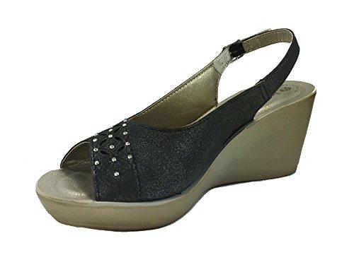 Inblu Noir pour Femme pour Sandales Inblu Sandales qxEYSTBT