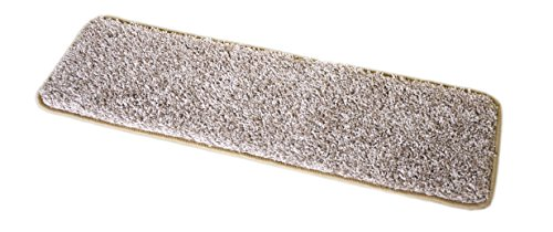 Dean Washable Non-Skid Carpet Stair Treads - Macadamia Beige (Set of 15) 23 Inches by 8 - Macadamia Company