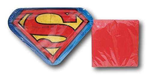DC Comics Superman Super Hero Party Bundle - Plates and Napkins by Marvel